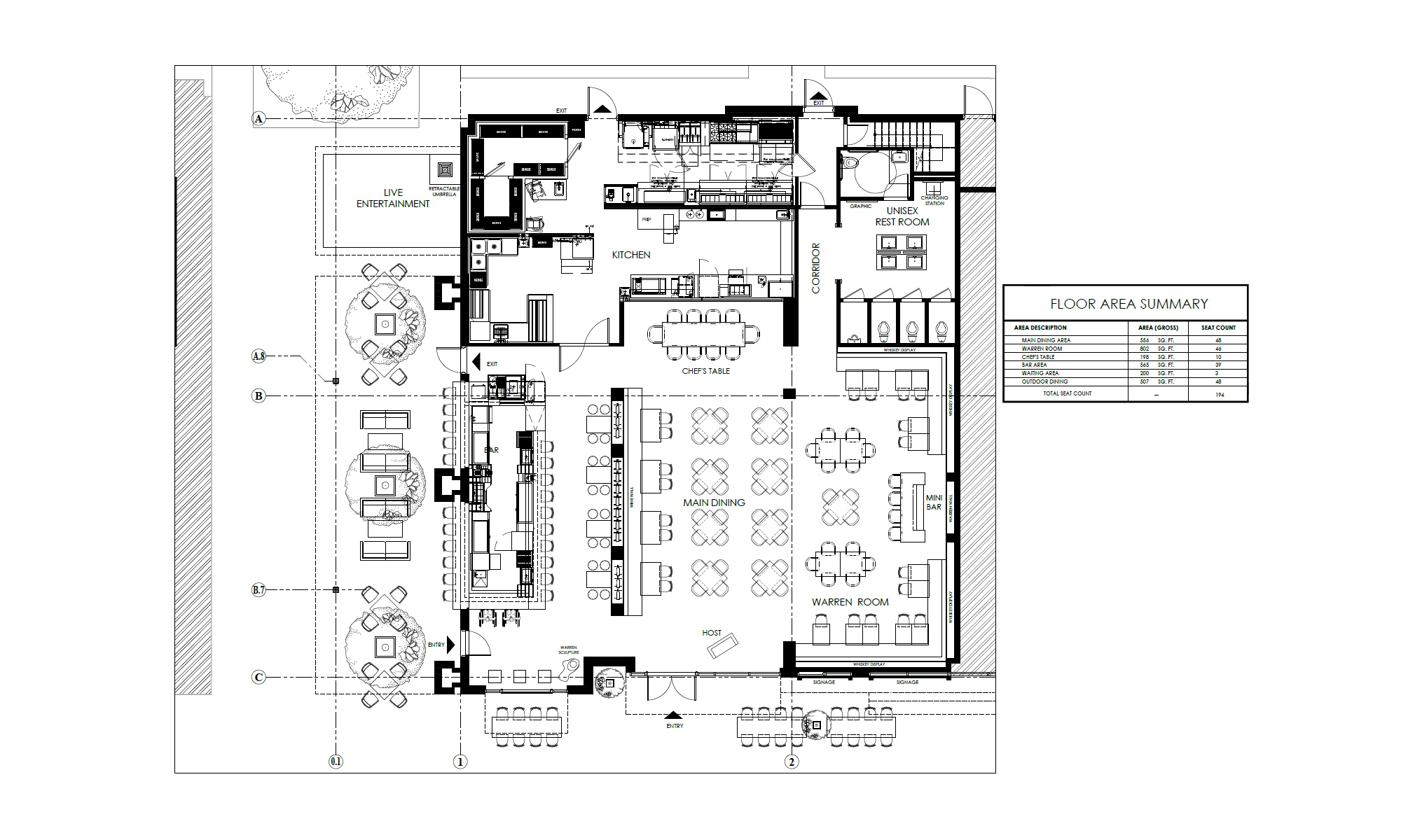 An image of the floor plan of Warren Delray.