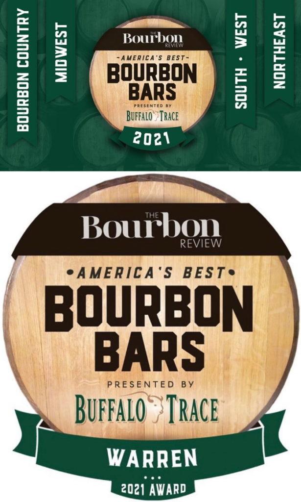 America's Best Bourbon Bars 2021 Award to Warren Digital Plaque
