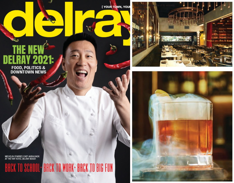 Delray Magazine Cover and pictures of article